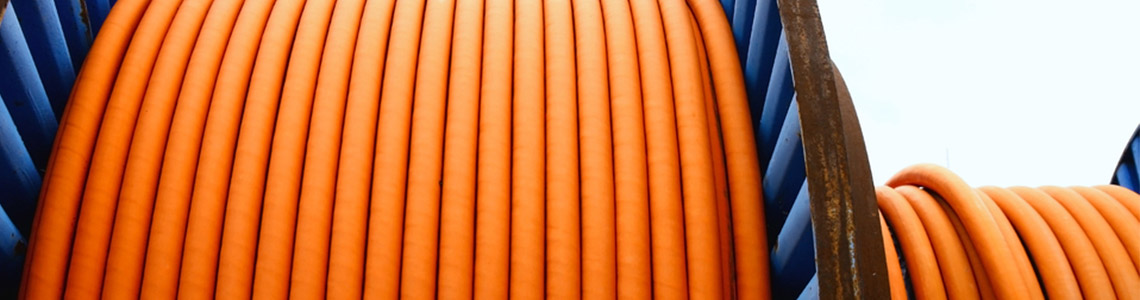 Orange cable which makes it easy to see