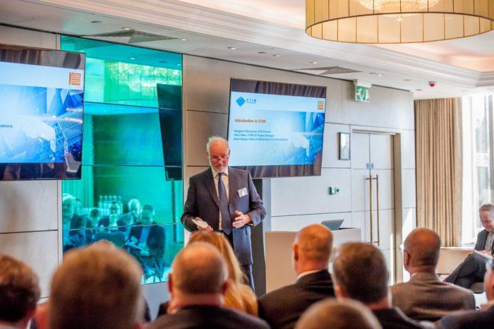 Simon Barkes presenting at the ETIM-UK Introductory presentation