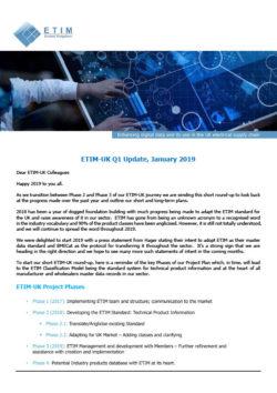 Front cover of the Q1 ETIM-UK Newsletter